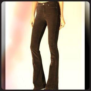 Brown corduroy bootcut pants
